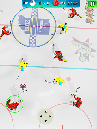 Screenshots do Ice hockey 2019: Classic winter league challenges - Perigoso para tablet e celular Android.