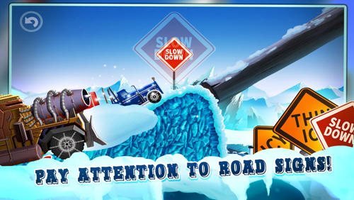 Screenshots von Ice road truck driving race für Android-Tablet, Smartphone.