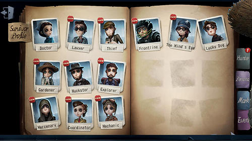 Screenshots von Identity V für Android-Tablet, Smartphone.