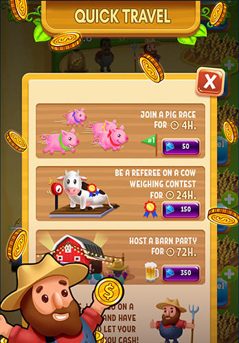 Jogue Idle farm tycoon: A cash, inc and money idle game para Android. Jogo Idle farm tycoon: A cash, inc and money idle game para download gratuito.