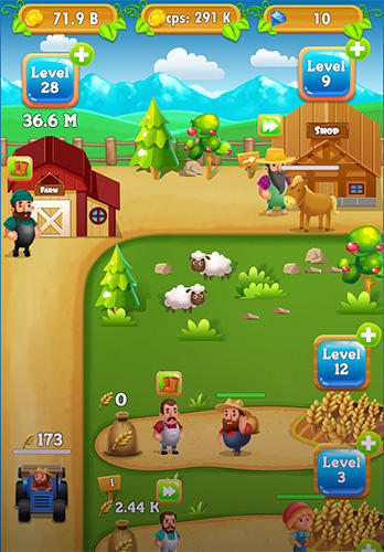 Screenshots do Idle farm tycoon: A cash, inc and money idle game - Perigoso para tablet e celular Android.