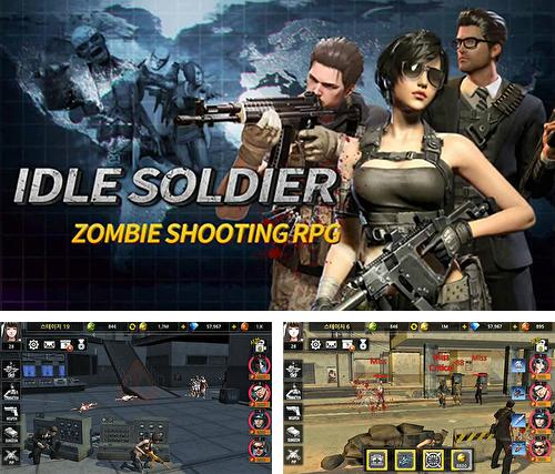 Idle soldier: Zombie shooter RPG PvP clicker