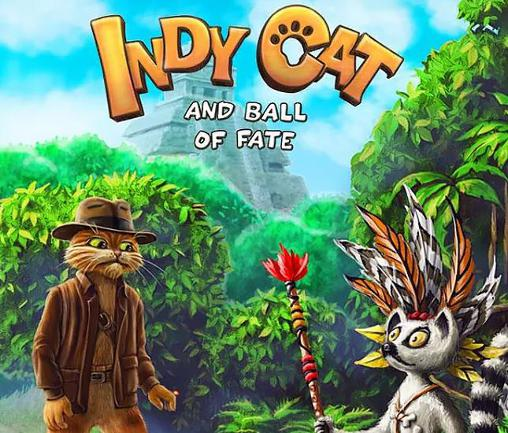 Indy cat and ball of fate: Match 3 poster
