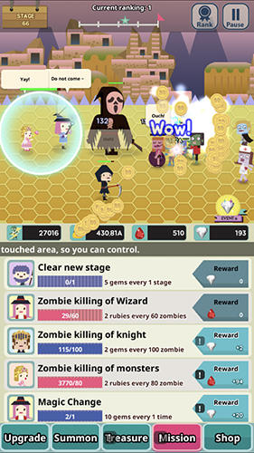 Screenshots von Infinity dungeon 2: Summon girl and zombie für Android-Tablet, Smartphone.