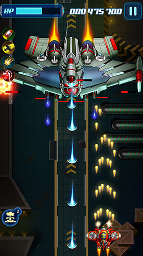 Screenshots von Infinity strike: Space shooting idle chicken für Android-Tablet, Smartphone.
