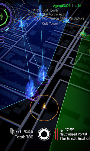 Screenshots von Ingress prime für Android-Tablet, Smartphone.