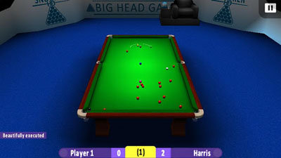 Capturas de pantalla de International Snooker HD para tabletas y teléfonos Android.