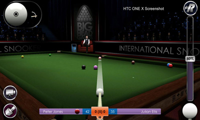 Capturas de pantalla de International Snooker Pro THD para tabletas y teléfonos Android.