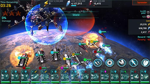 Screenshots do Space chase - Perigoso para tablet e celular Android.
