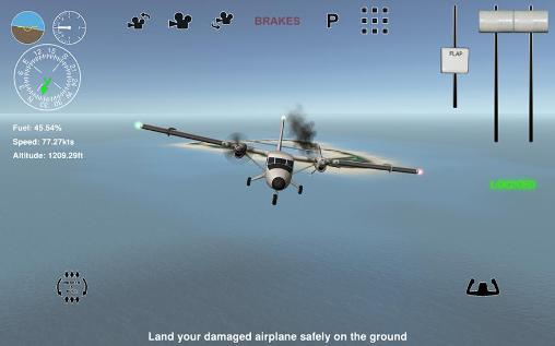 Screenshots von Island bush pilot 3D für Android-Tablet, Smartphone.