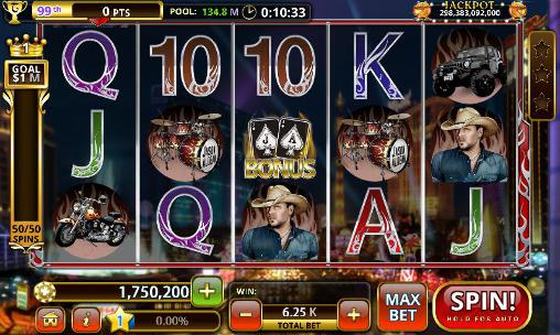 Kostenloses Android-Game Jason Aldean: Slot Machines. Vollversion der Android-apk-App Hirschjäger: Die Jason Aldean: Slot machines für Tablets und Telefone.