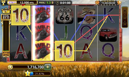 Screenshots von Jason Aldean: Slot machines für Android-Tablet, Smartphone.