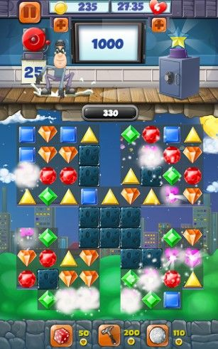 Kostenloses Android-Game Juwelen Blast: Diebesquest. Diamanten Blast: 3 Gewinnt Spiel. Vollversion der Android-apk-App Hirschjäger: Die Jewel blast: Thief quest. Diamond blast: Game three in a row für Tablets und Telefone.