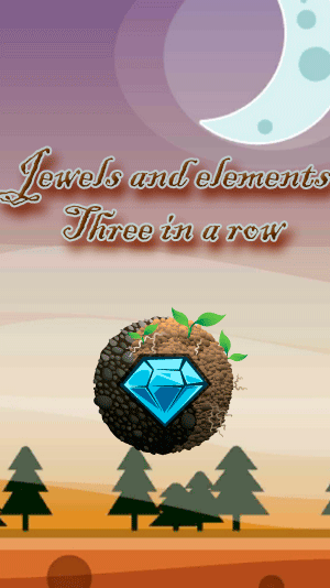 Jewels and elements: Three in a row