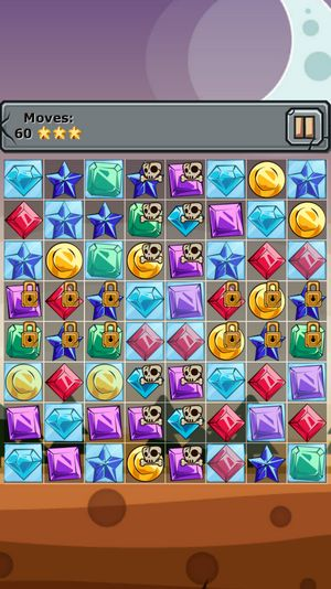Jewels and elements: Three in a row картинка из игры 3