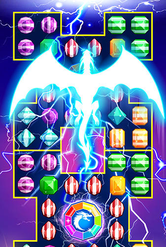 Screenshots do Jewels legend: Island of puzzle. Jewels star gems match 3 - Perigoso para tablet e celular Android.