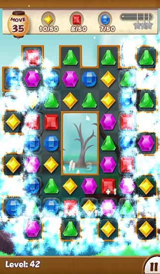 Screenshots of the Jewels ninja for Android tablet, phone.