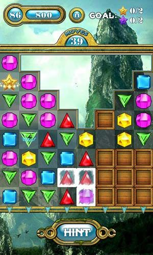 Screenshots of the Jewels saga for Android tablet, phone.