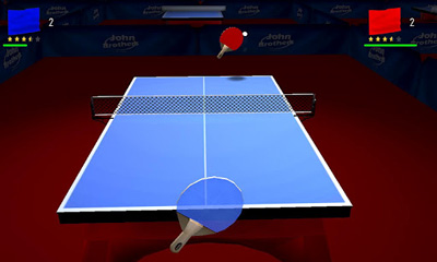Геймплей JPingPong Table Tennis для Android телефону.