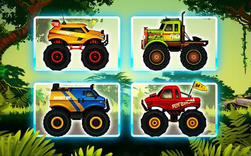 Screenshots do Jungle monster truck for kids - Perigoso para tablet e celular Android.