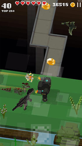 Jurassic hopper 2: Crossy dino world shooter screenshot 1