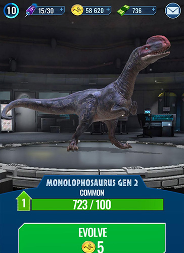 Screenshots von Jurassic world alive für Android-Tablet, Smartphone.