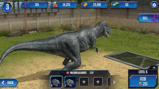 Capturas de pantalla de Jurassic world: The game para tabletas y teléfonos Android.