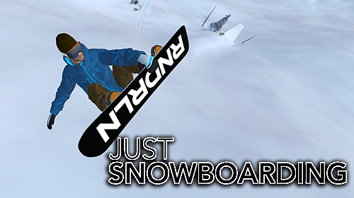 Just snowboarding: Freestyle snowboard action