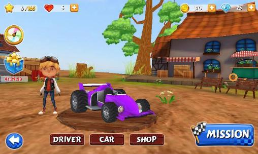 Screenshots von Kart racer 3D für Android-Tablet, Smartphone.
