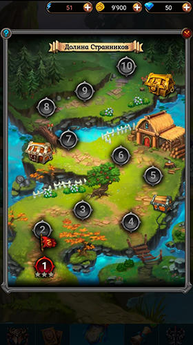 Screenshots von Keepers of cards and magic: RPG battle für Android-Tablet, Smartphone.