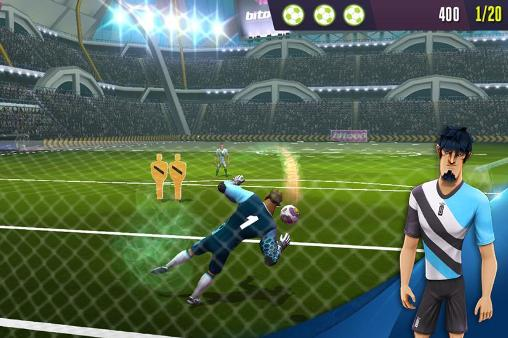 Juega a Kicks! Football warriors para Android. Descarga gratuita del juego Golpes. Guerras del fútbol.