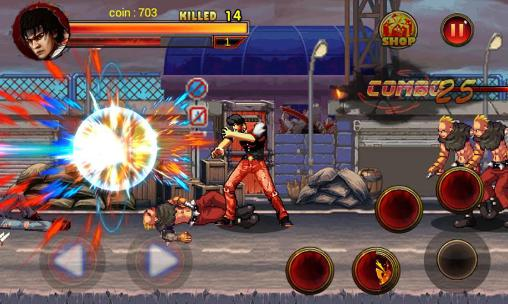 Screenshots of the King of kungfu: Street combat for Android tablet, phone.