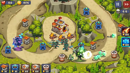 Kostenloses Android-Game Kingdom Defense: Turmkriege TD. Vollversion der Android-apk-App Hirschjäger: Die Kingdom defense: Tower wars TD für Tablets und Telefone.