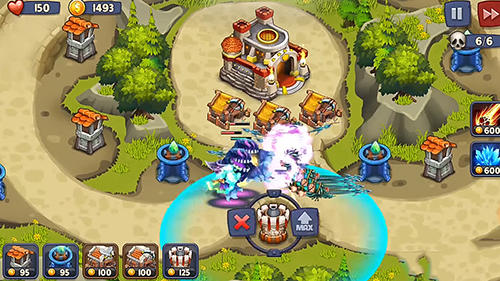 Kingdom defense: Tower wars TD für Android spielen. Spiel Kingdom Defense: Turmkriege TD kostenloser Download.
