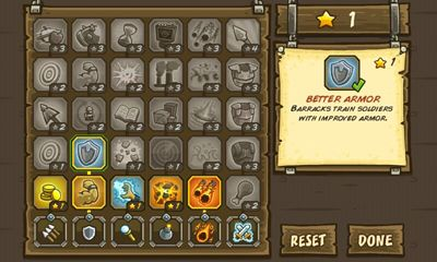 Screenshots of the Kingdom Rush for Android tablet, phone.