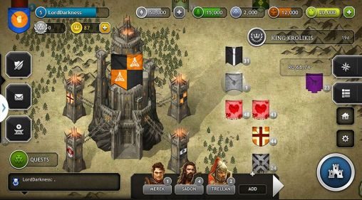 Screenshots von Kings of the realm für Android-Tablet, Smartphone.
