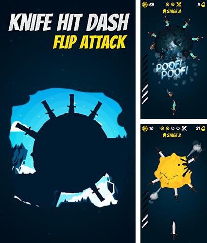 Knife hit planet dash: Flip attack