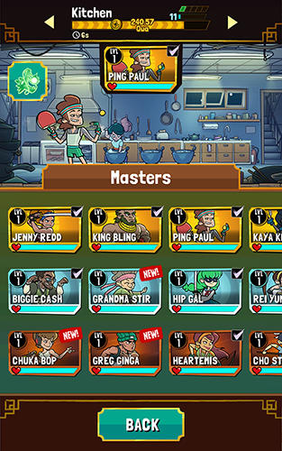 Screenshots von Kung fu clicker für Android-Tablet, Smartphone.