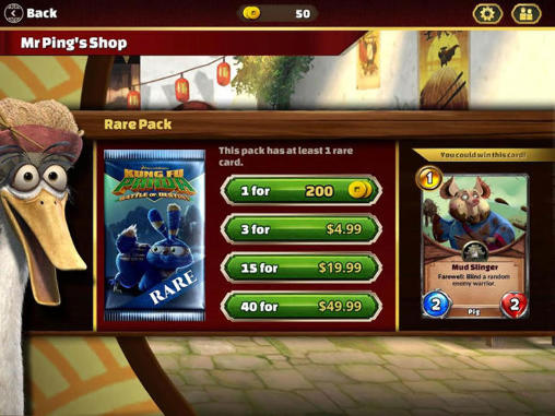 Screenshots von Kung fu panda: Battle of destiny für Android-Tablet, Smartphone.