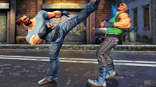 Screenshots von Kung fu real fight: Fighting games für Android-Tablet, Smartphone.
