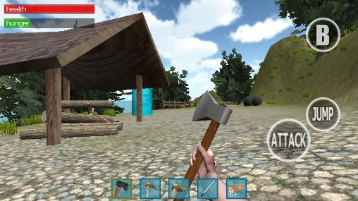 Screenshots of the Landlord 3D: Survival island for Android tablet, phone.