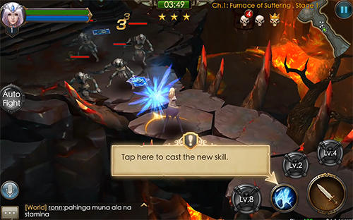 Screenshots von Legacy of discord: Furious wings für Android-Tablet, Smartphone.