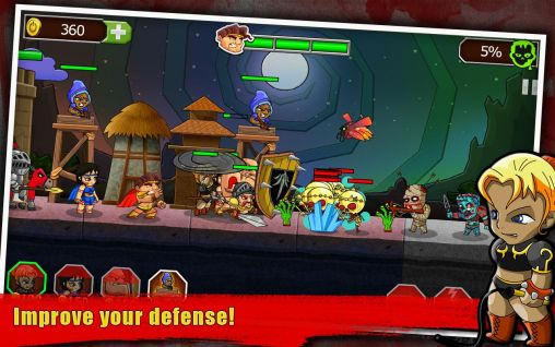 Screenshots do Legend vs. zombies - Perigoso para tablet e celular Android.