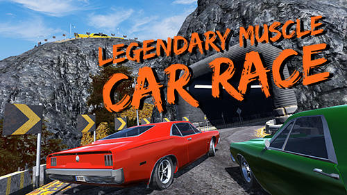 Legendary muscle car race poster