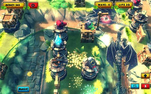 Screenshots von Legendary tower strategy TD 3D für Android-Tablet, Smartphone.