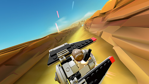 Kostenloses Android-Game LEGO Star Wars: Mikro-Kämpfer. Vollversion der Android-apk-App Hirschjäger: Die LEGO Star wars: Micro fighters für Tablets und Telefone.