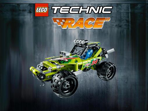 lego technic race poster