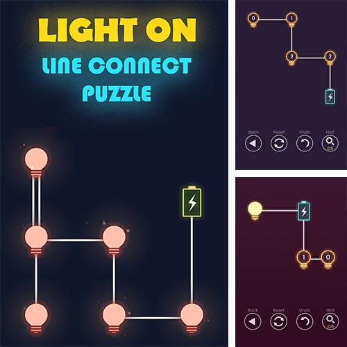 Light on: Line connect puzzle
