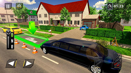 Screenshots do Limousine car driving real parking - Perigoso para tablet e celular Android.
