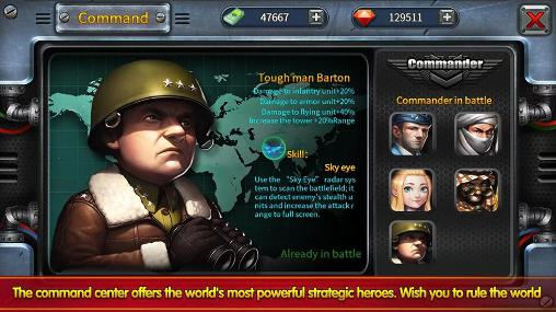 Screenshots of the Little commander 2: Global war for Android tablet, phone.